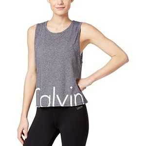 Calvin Klein Performance Cut Off Logo Crop Tank